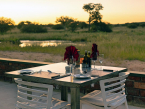 Okonjima plains camp dinner table