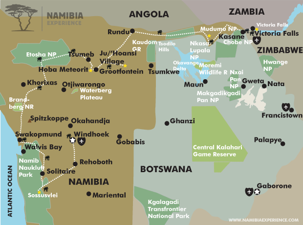 Marvels of Southern Africa Map