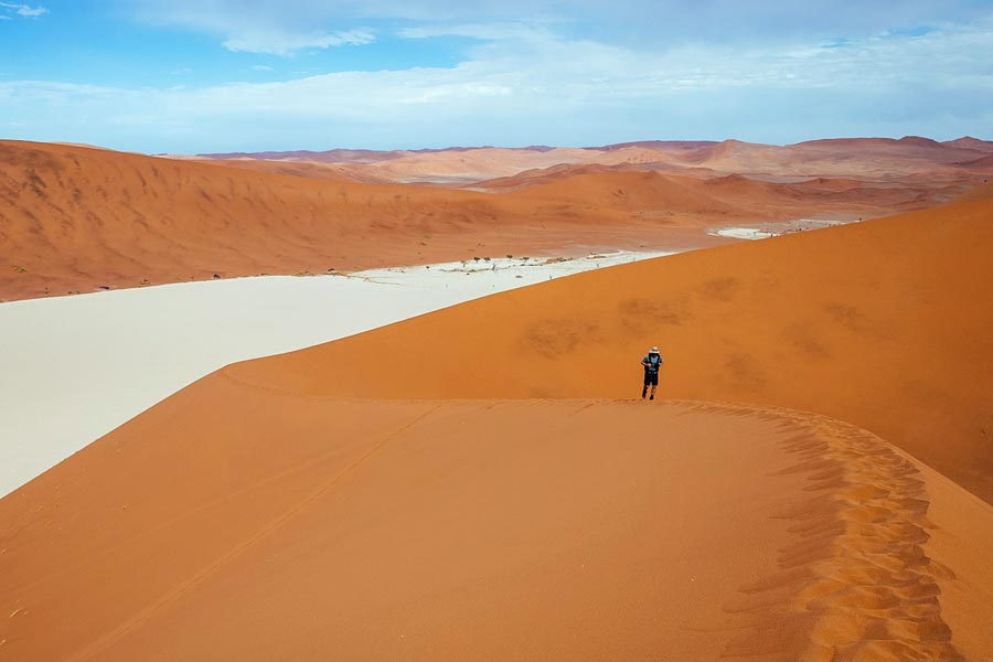 Namib desert physical distancing holiday